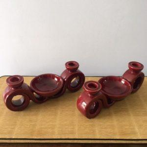 Bougeoirs en céramique  -  La faience - porcelaine - céramique