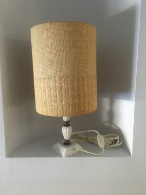 Lampe sur pied Pied albâtre blanc