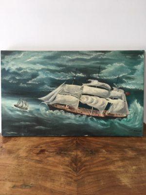 Tableau Huile sur toile (bateaux)