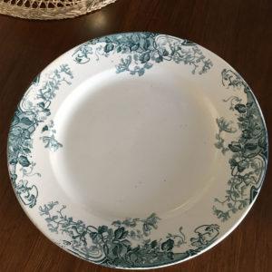 Ancien grand plat de service  -  La faience - porcelaine - céramique