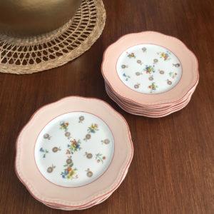 Assiette à dessert porcelaine de Limoges  -  La faience - porcelaine - céramique