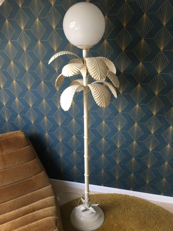 Lampadaire palmier en métal laqué  -  La décoration