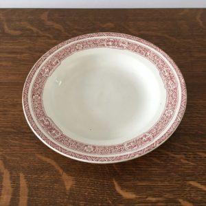 Assiette creuse en faïence  -  La décoration
