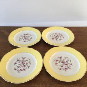 Assiettes plates Luneville  -  La décoration