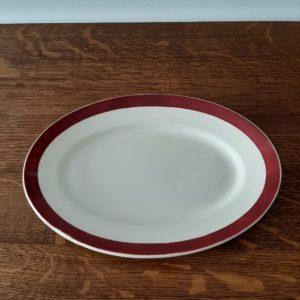 Ancien plat ovale en faïence  -  La décoration