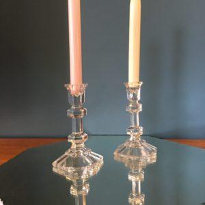 Bougeoirs en cristal  -  La décoration