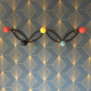 Porte manteaux métal / bois  -  La décoration