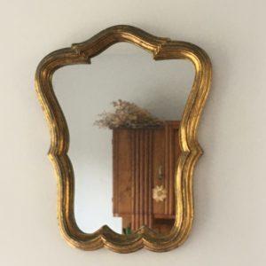 Miroir ancien doré  -  La décoration
