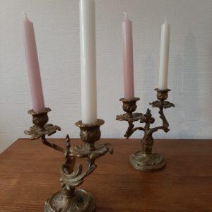 Bougeoirs en laiton  -  La décoration