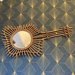 Miroir bambou / rotin  -  La décoration