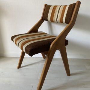 Chaise scandinave bois tissu  -  La maison