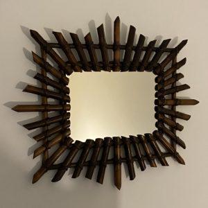 Miroir en bambou vintage  -  La décoration