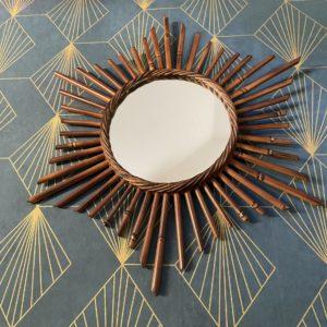 Miroir soleil bambou  -  La décoration